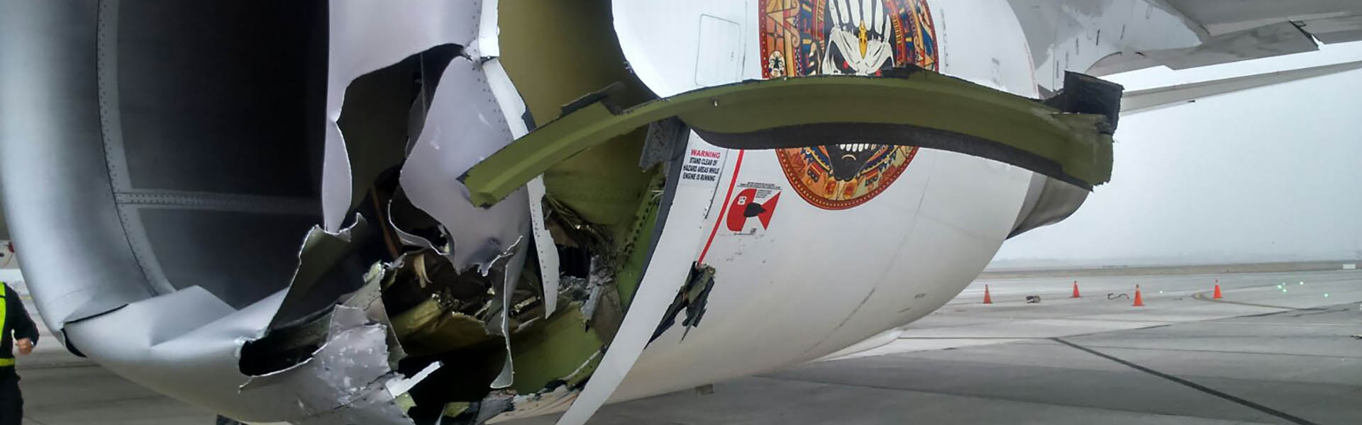 Ed Force One damaged in Chile