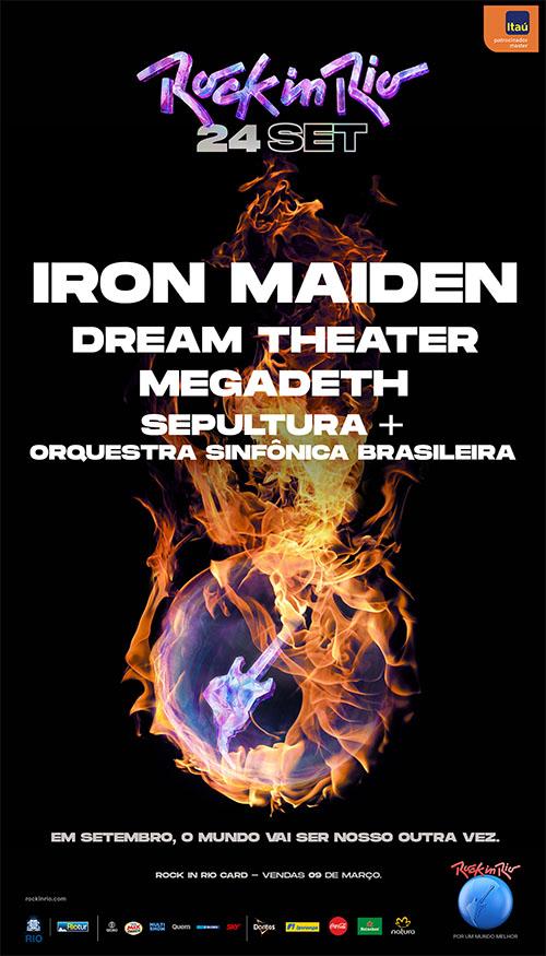 Rock in Rio anuncia shows de Iron Maiden, Megadeth, Dream Theater