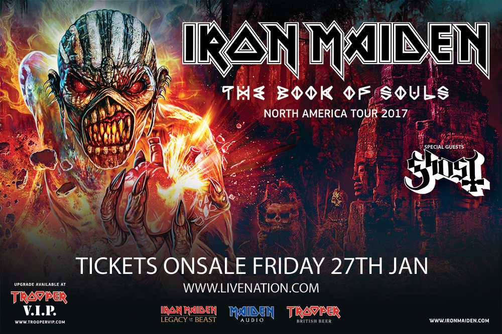 Iron Maiden The Book Of Souls Tour Returns To North America In 2017