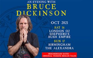 """FINAL TWO SHOWS OF BRUCE'S """"EVENING WITH"""" SHOW – Rescheduled to October"""